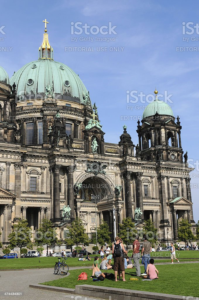 Berlin Cathedral in Central (Germany) royalty-free stock photo
