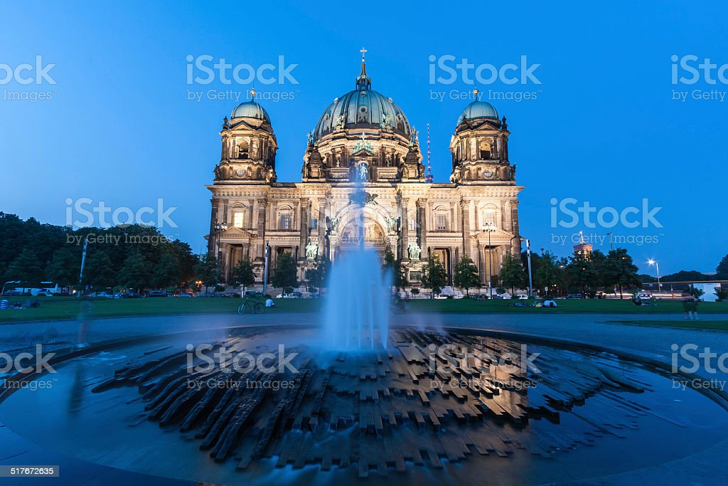 Berlin Cathedral (German: Berliner Dom) is a church in Berlin stock photo