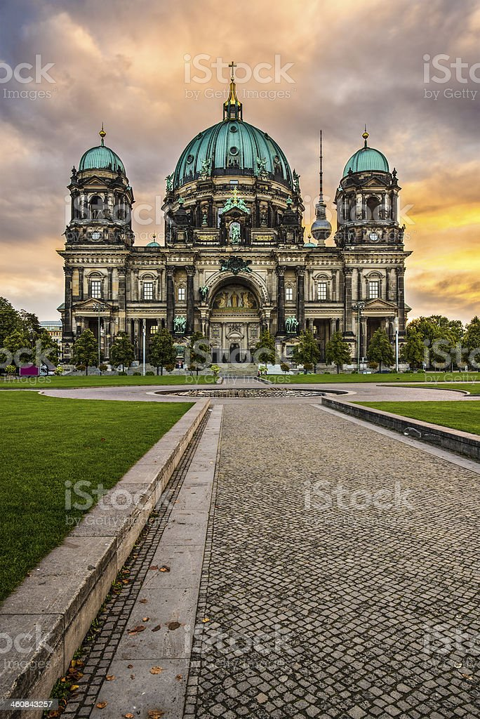 Berlin Cathedral stock photo