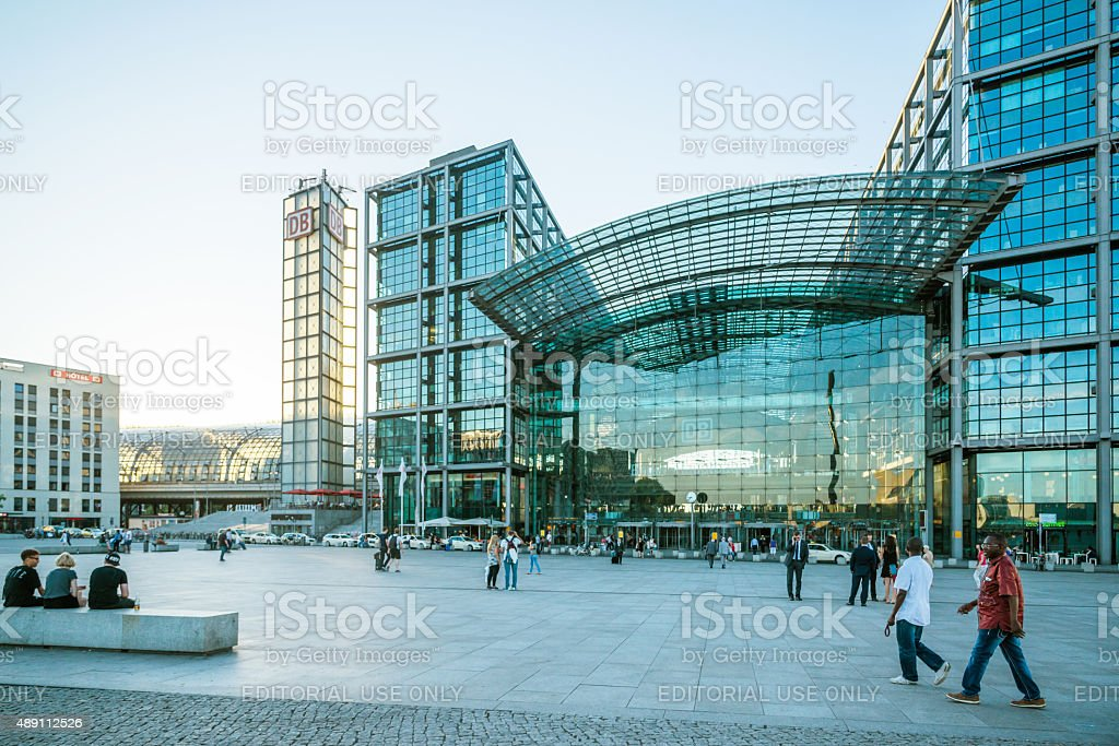 Berlin Central Station, Germany stock photo