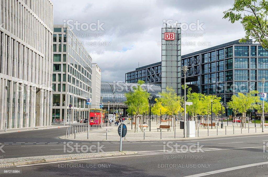 Berlin Central Station Hauptbahnhof stock photo