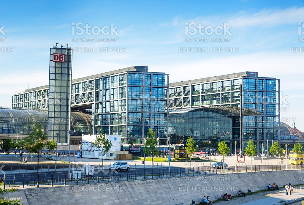 Berlin Central Station stock photo