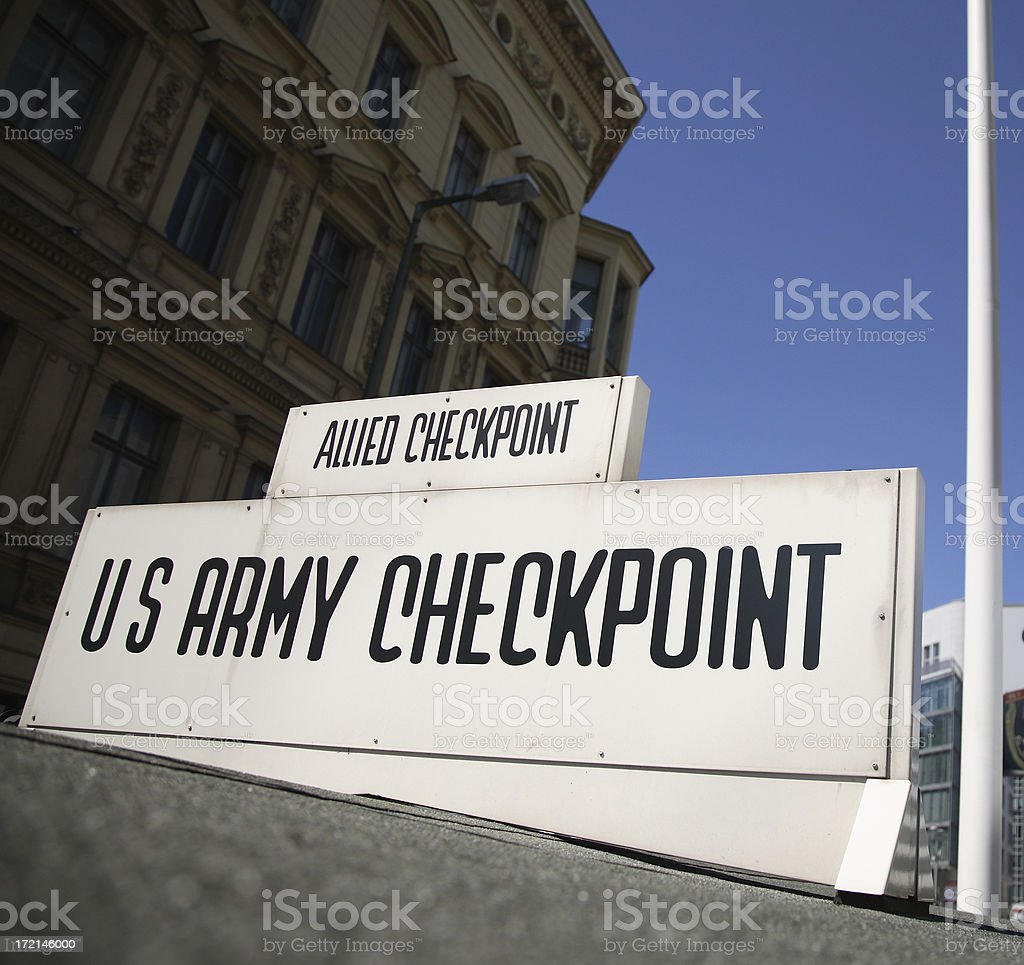 Berlin: Checkpoint Charlie stock photo