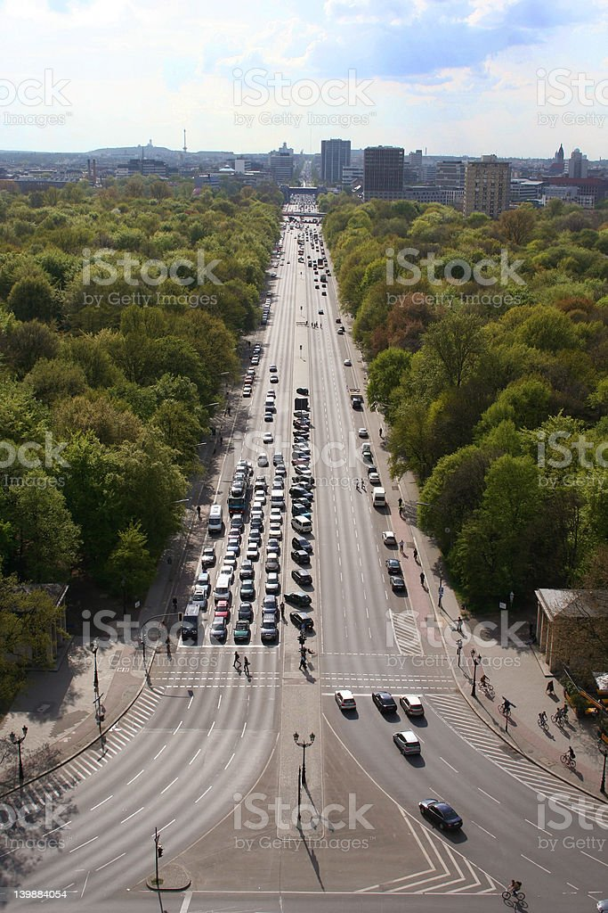 Berlin City from Siegessaeule royalty-free stock photo