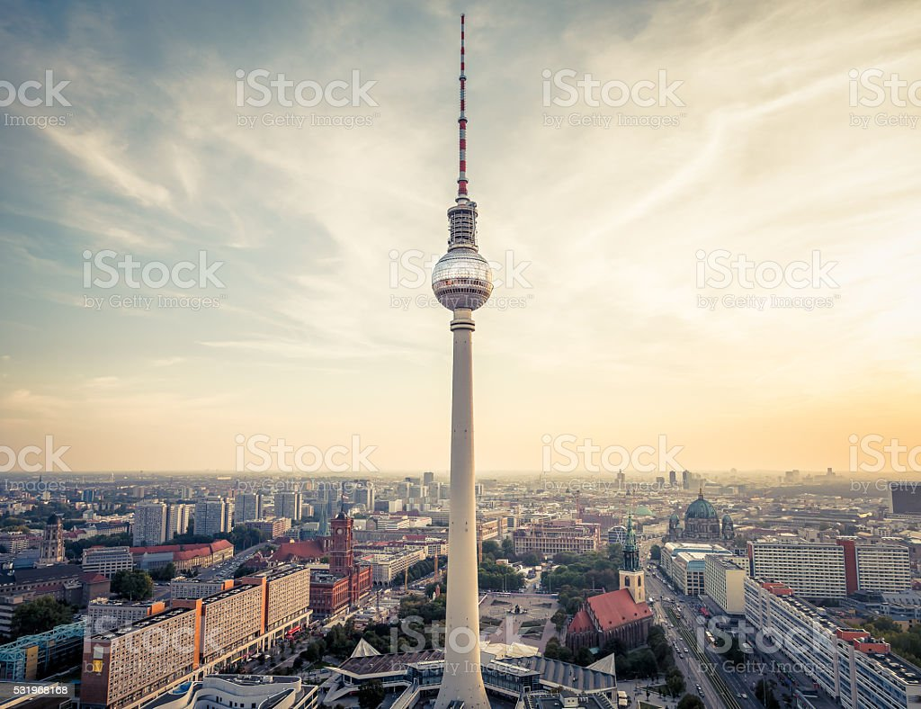 Berlin city, Germany stock photo