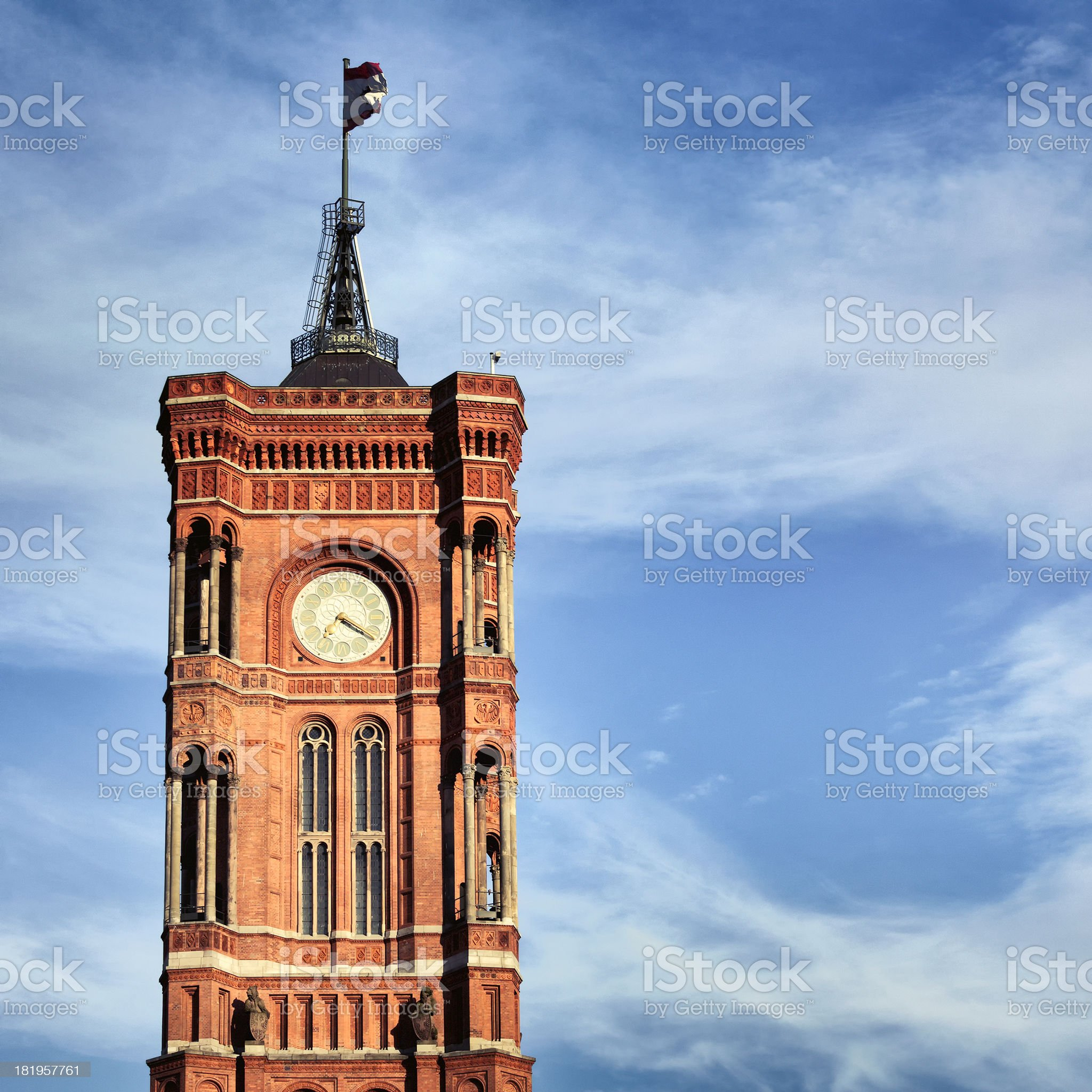 Berlin city hall tower royalty-free stock photo