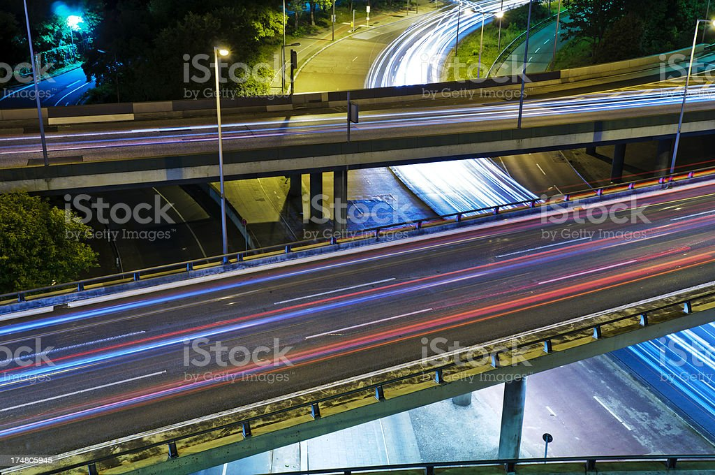 Berlin City Highway - Intersection stock photo
