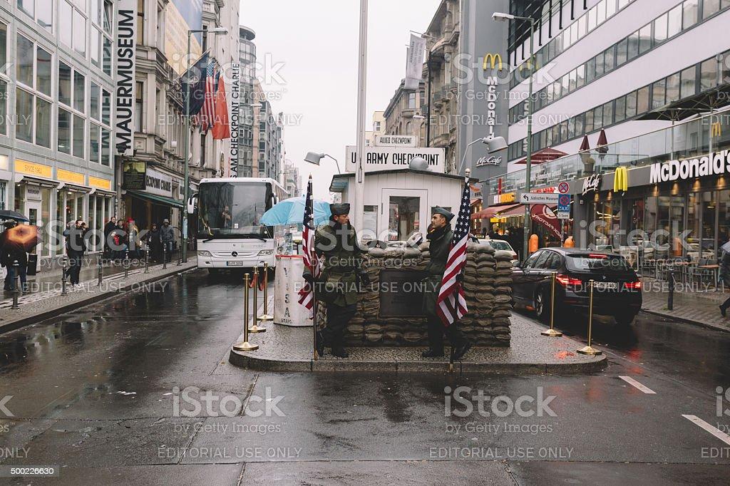 Berlin city in October stock photo