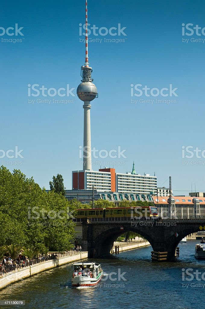 Berlin City view royalty-free stock photo