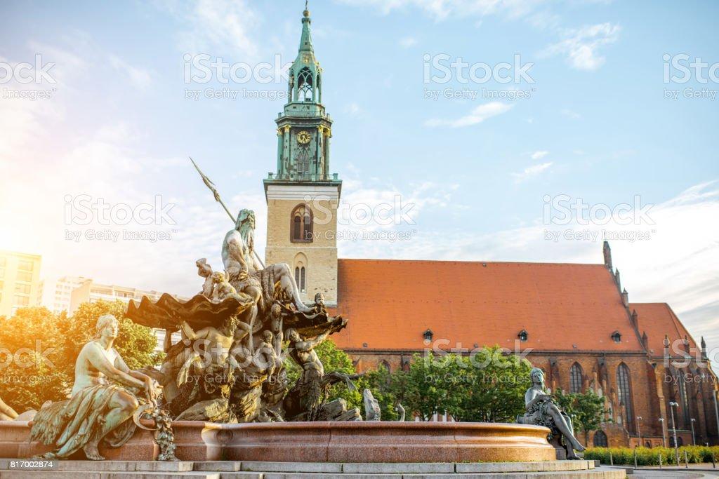 Berlin city view stock photo