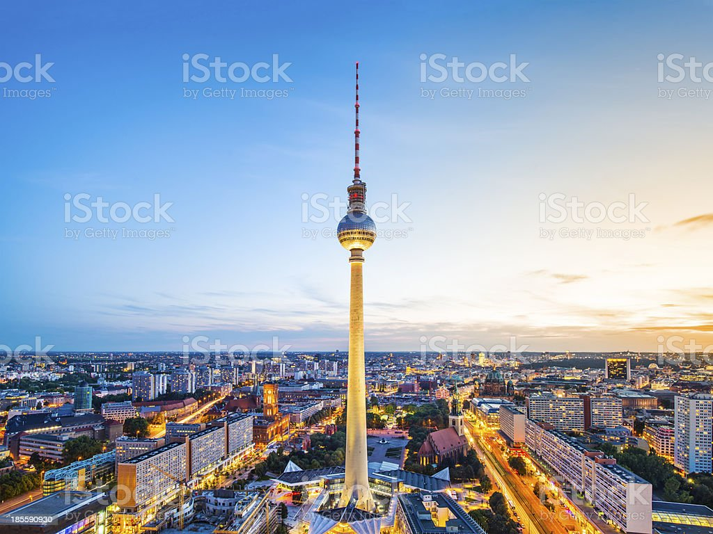 Berlin Cityscape royalty-free stock photo