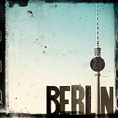 Berlin Collage With Television Tower – Grunge Style