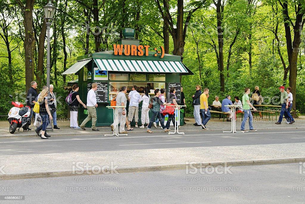 Berlin Currywurst stock photo
