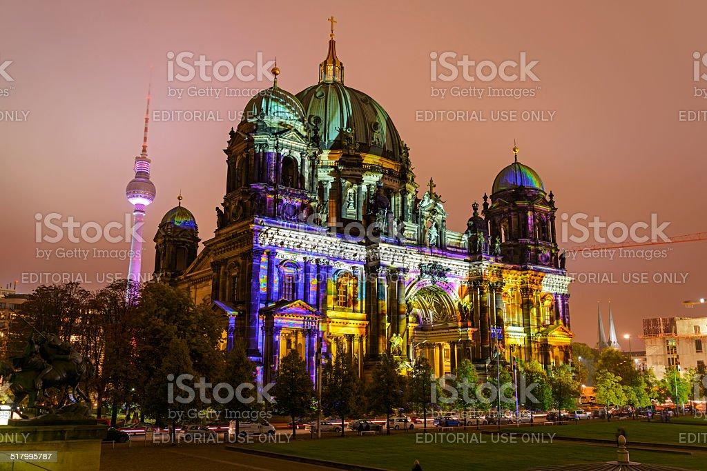 Berlin Dom - Festival of Lights 2014 stock photo