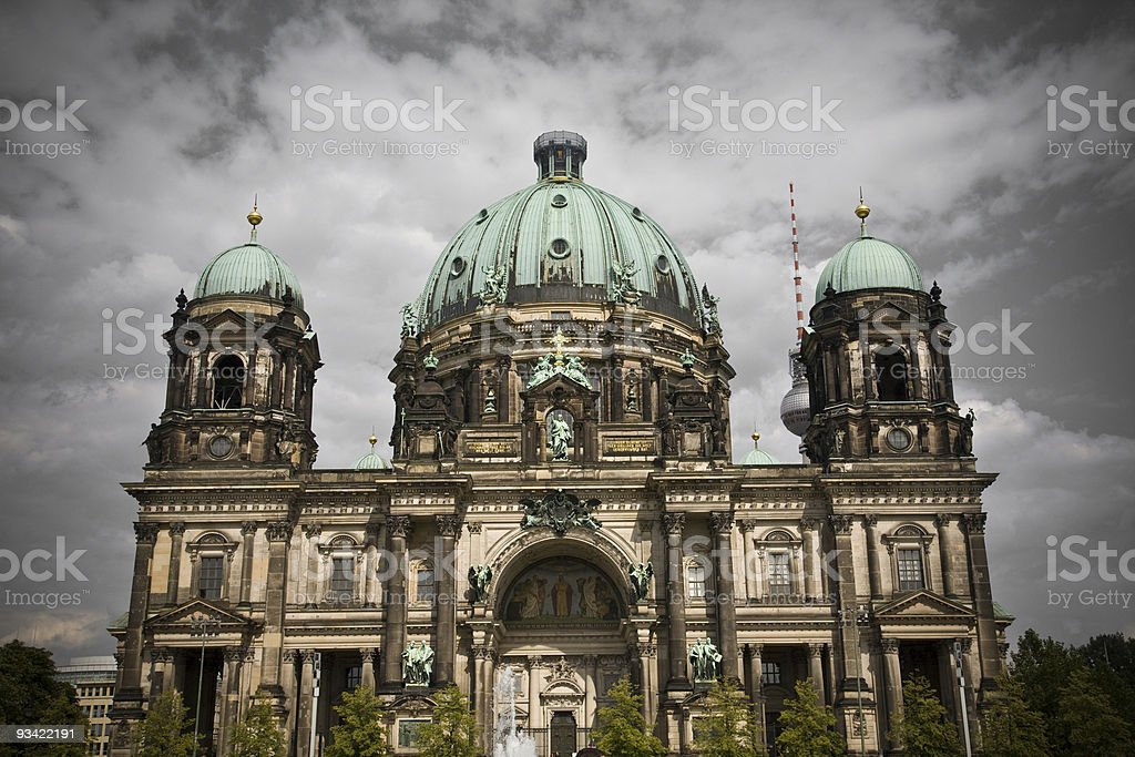berlin dome stock photo
