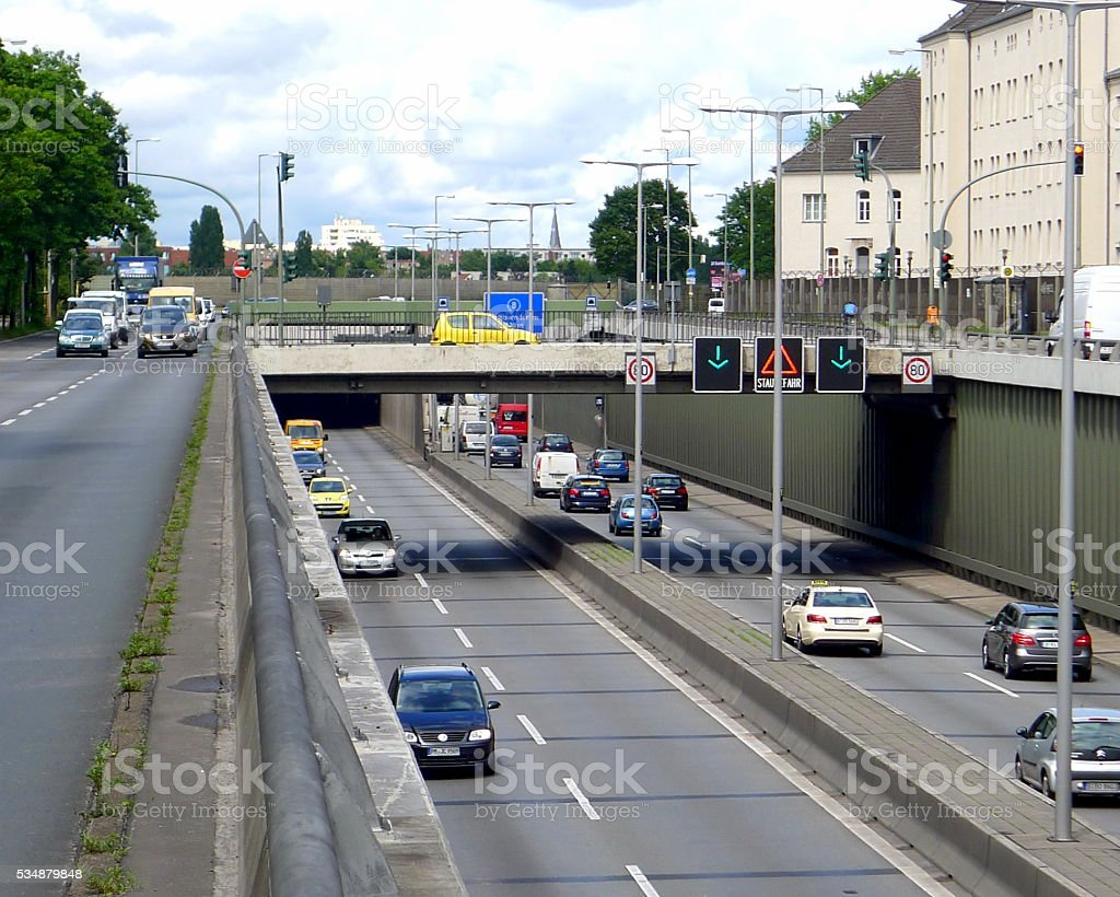 Berlin Expressway stock photo