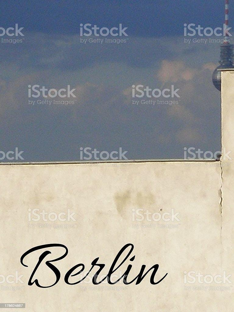 Berlin Fernsehturm royalty-free stock photo
