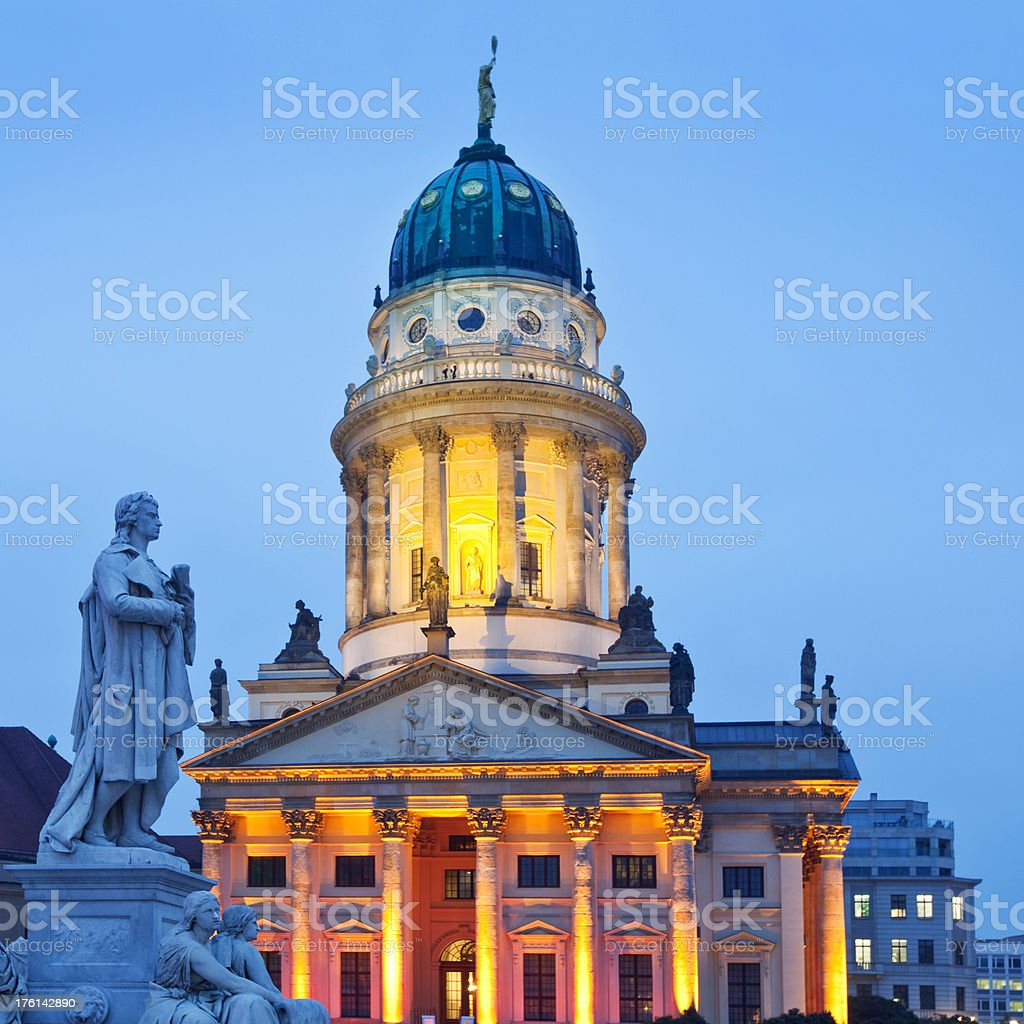 Berlin, French Cathedral stock photo