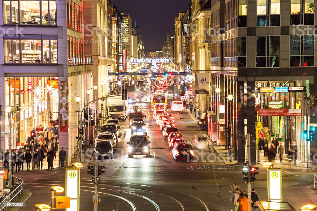 Berlin Friedrichstrasse stock photo