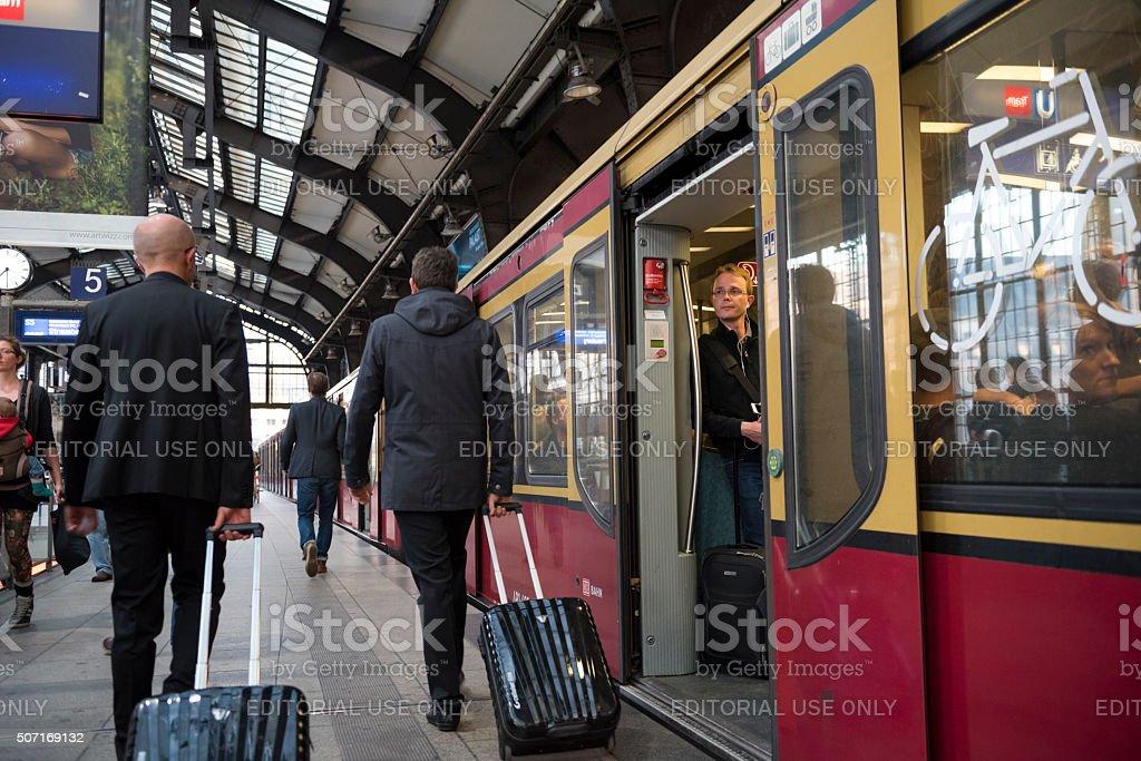 Berlin Friedrichstrasse Station in Berlin, Germany stock photo