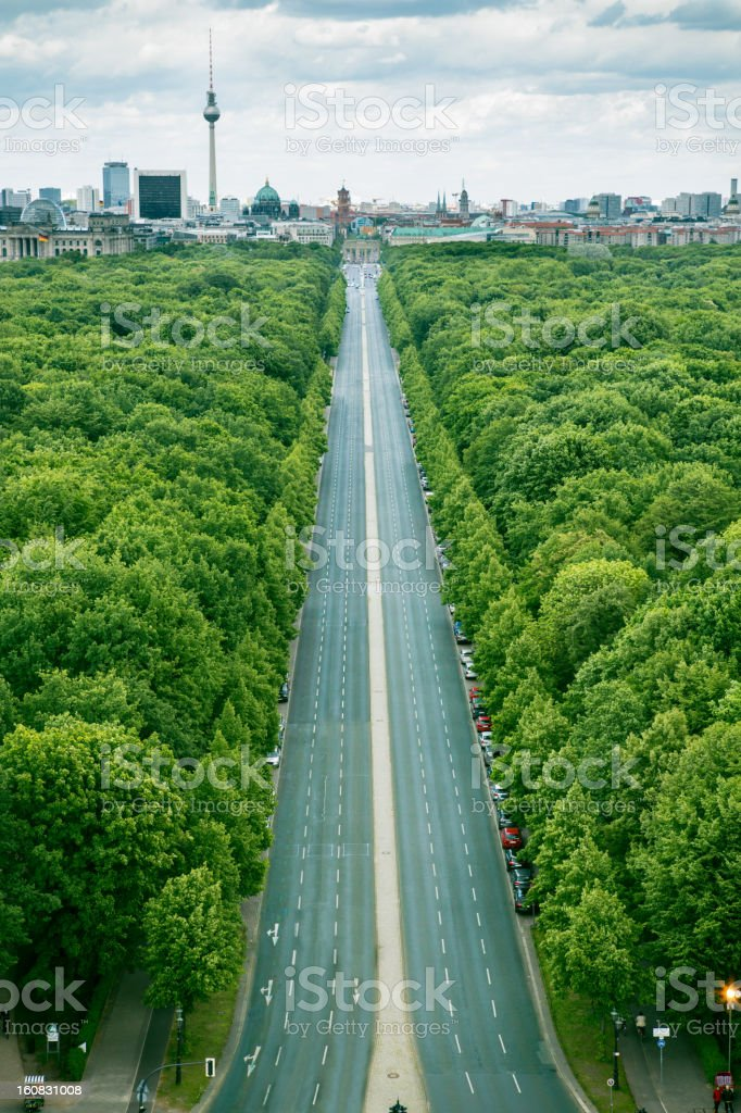 Berlin from above stock photo