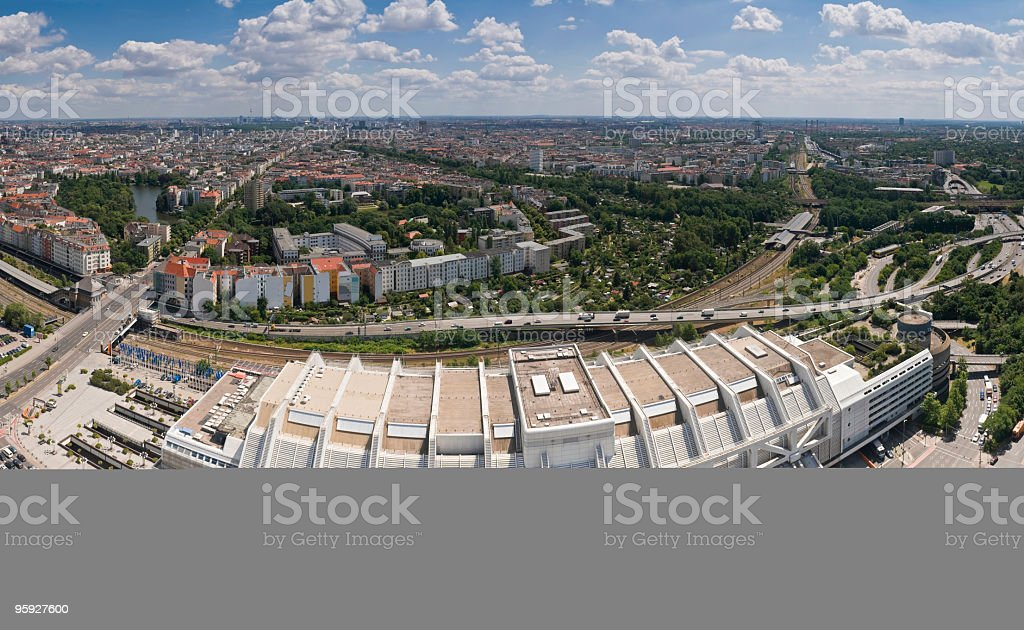 Berlin Funkturm ICC cityscape stock photo