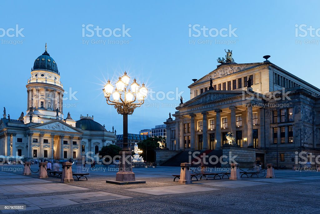 Berlin, Gendarmenmarkt by Night stock photo