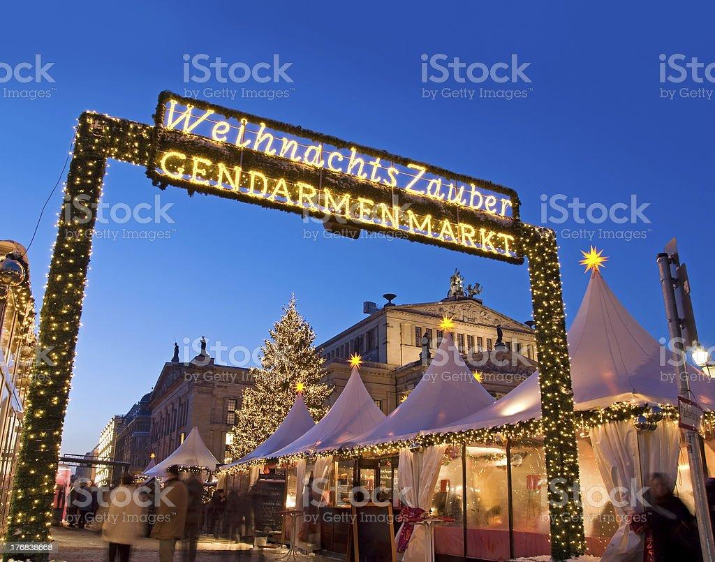 berlin gendarmenmarkt christmas market stock photo