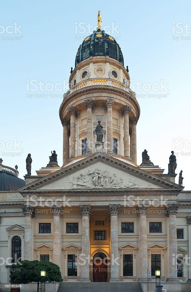 Berlin, Gendarmenmarkt, Deutscher Dom royalty-free stock photo