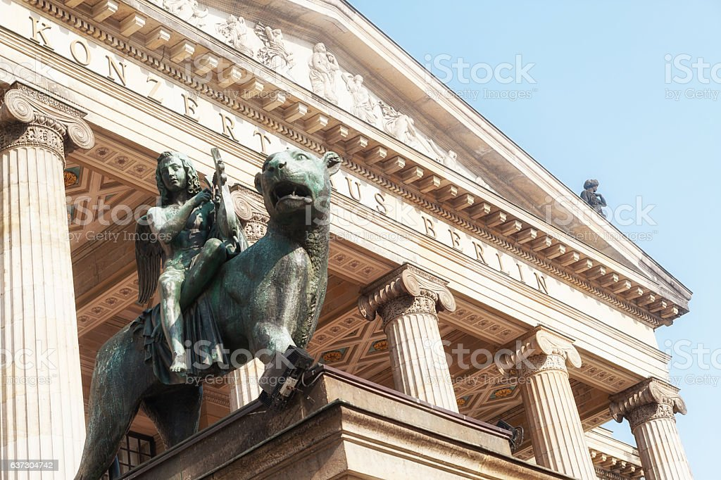 Berlin, Gendarmenmarkt - Konzerthaus stock photo
