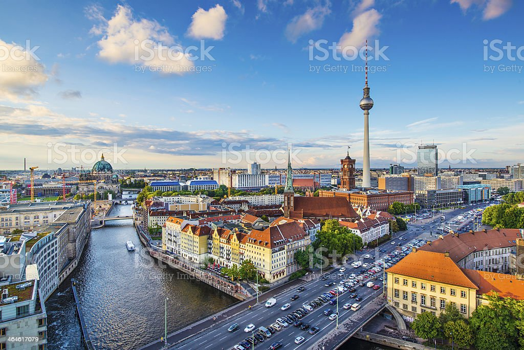 Berlin, germany Skyline stock photo