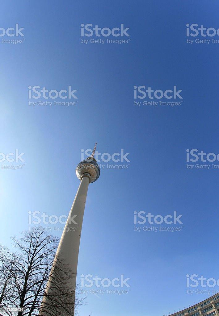 Berlin Germany TV tower royalty-free stock photo