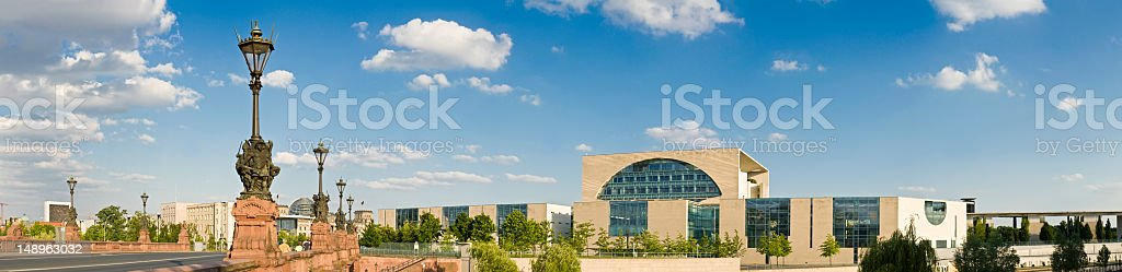 Berlin government quarter panorama royalty-free stock photo
