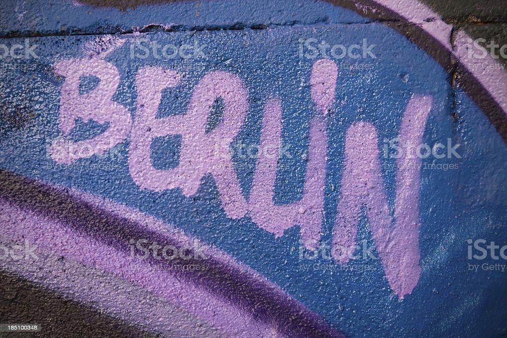 Berlin graffiti wall stock photo