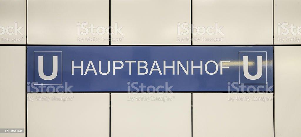 Berlin Hauptbahnhof royalty-free stock photo