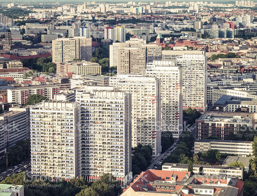 Berlin high-rise residential architecture stock photo
