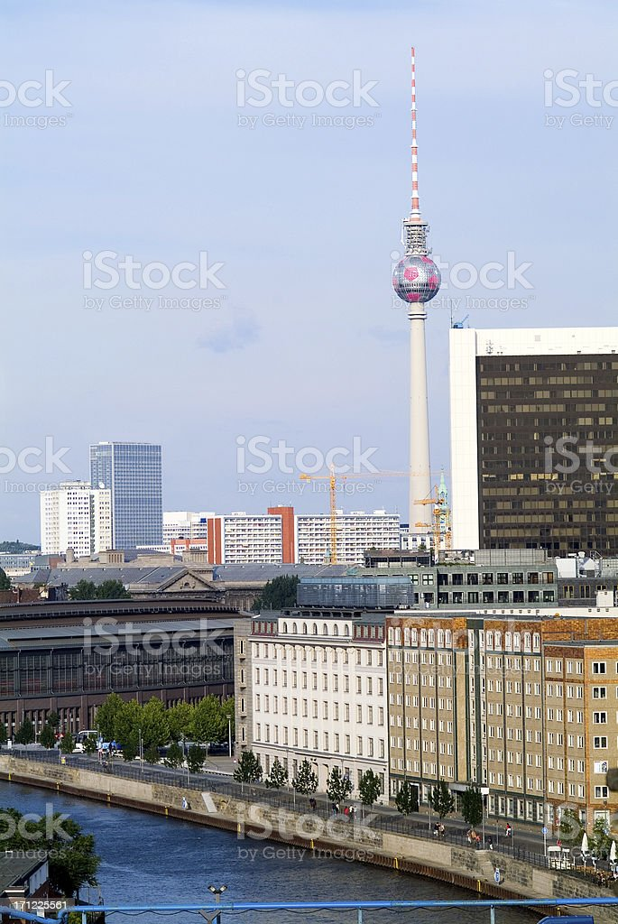 Berlin in the summer royalty-free stock photo
