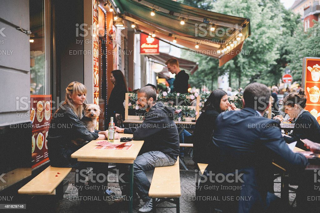 Berlin Kreuzber cafe stock photo