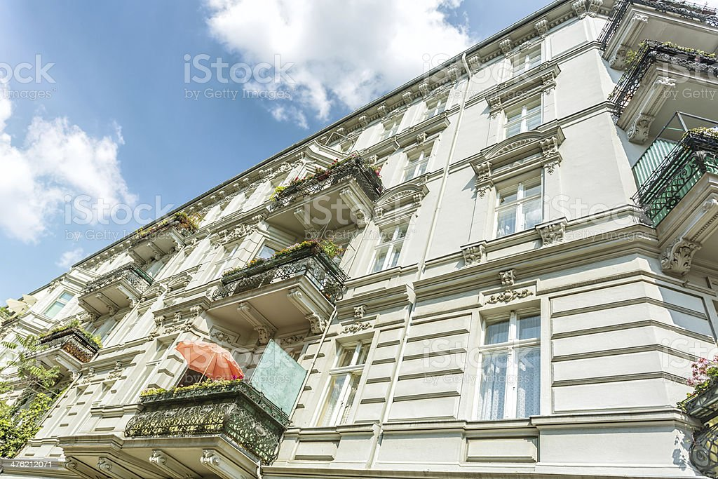 Berlin Kreuzberg:  Restored old apartment building from the 19th century royalty-free stock photo