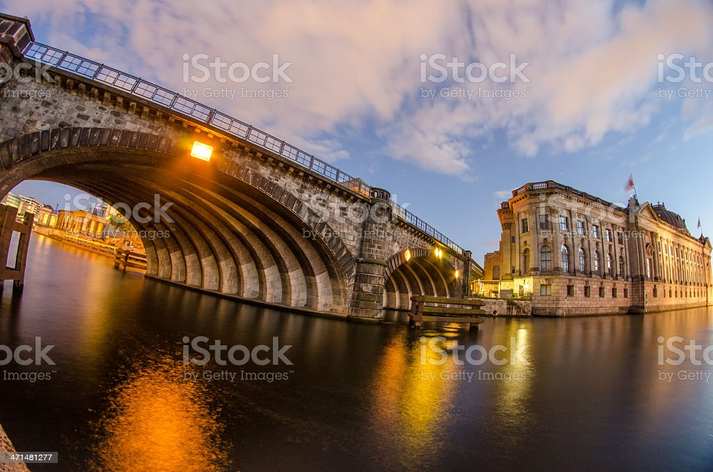 Berlin Landmarks and Buildings after sunset royalty-free stock photo