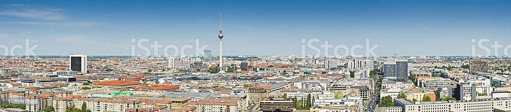 Berlin landmarks cityscape panorama royalty-free stock photo