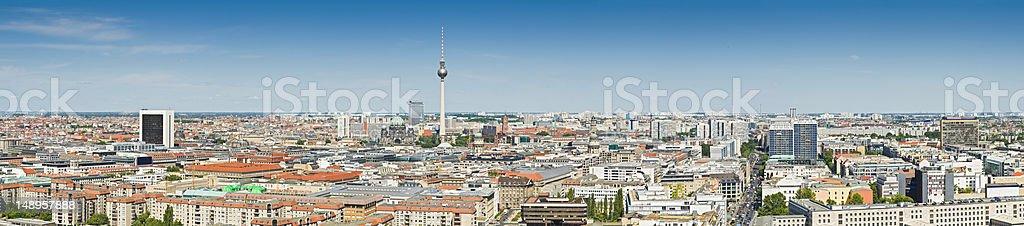 Berlin landmarks cityscape panorama stock photo