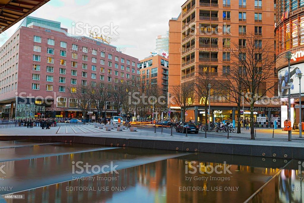 Berlin Marlene Dietrich Platz and Hyatt Hotel royalty-free stock photo