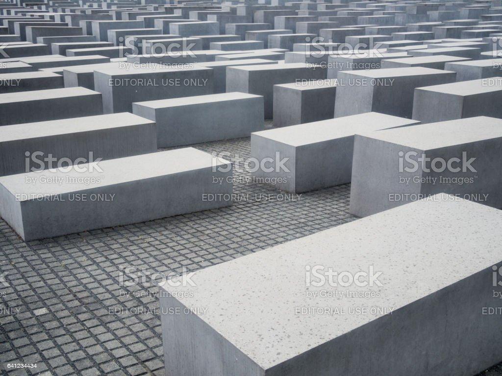 Berlin Memorial to the murdered jews stock photo