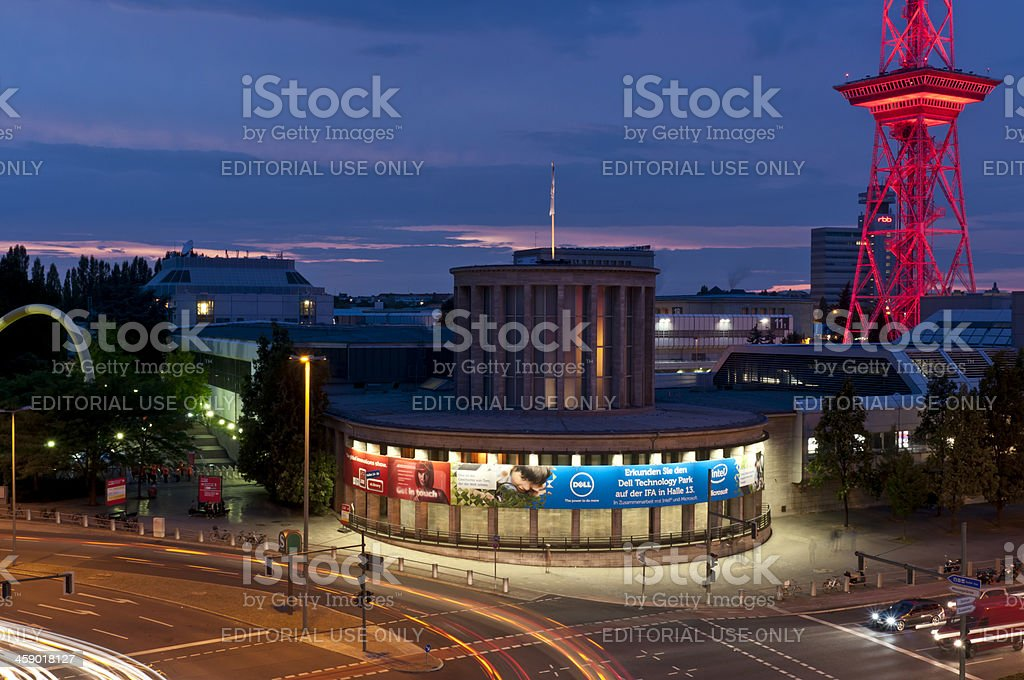 Berlin Messe IFA at night stock photo