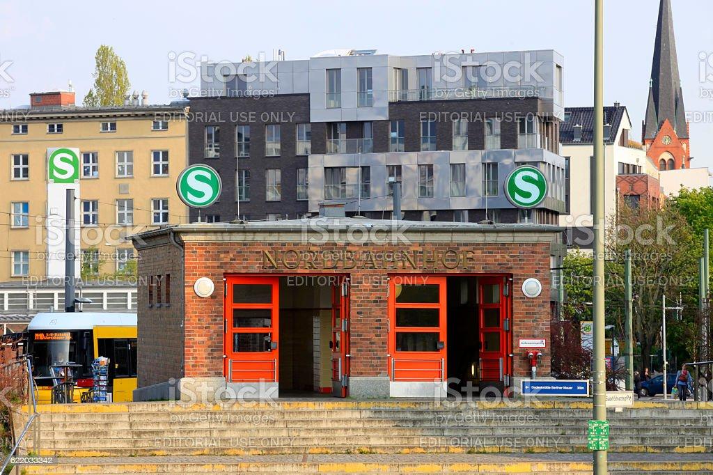 Berlin Nordbahnhof, a railway station in Berlin stock photo