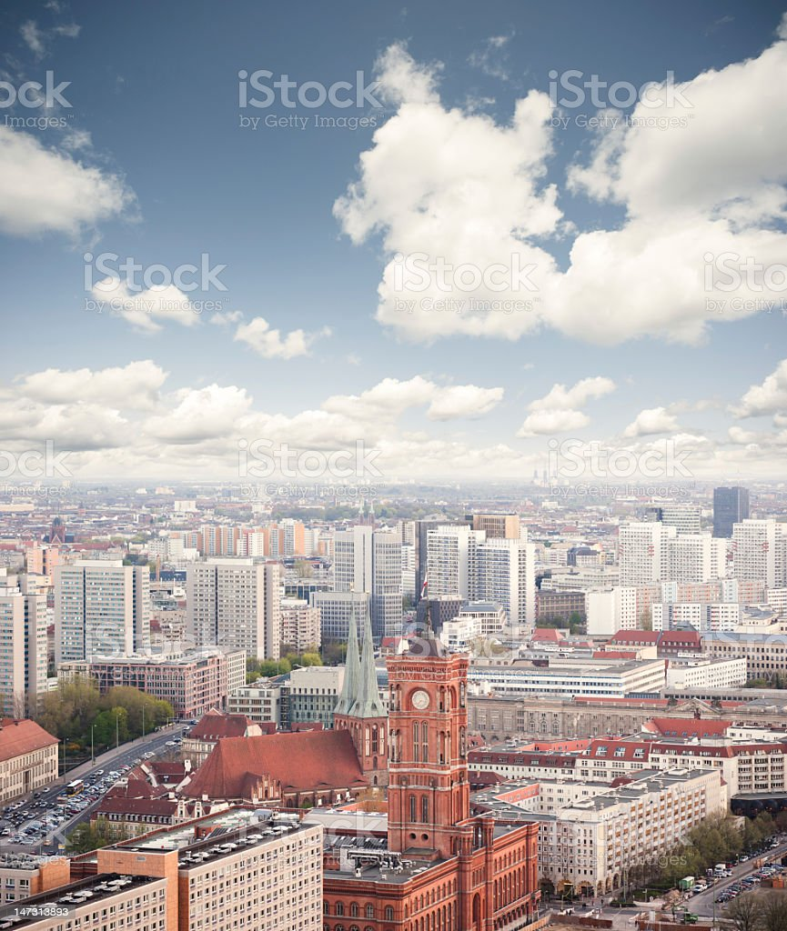Berlin overview looking south towards royalty-free stock photo