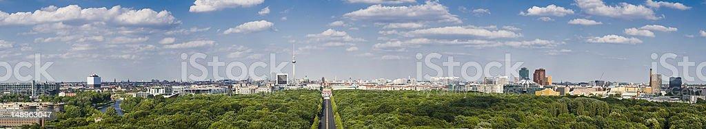 Berlin panoramic cityscape stock photo
