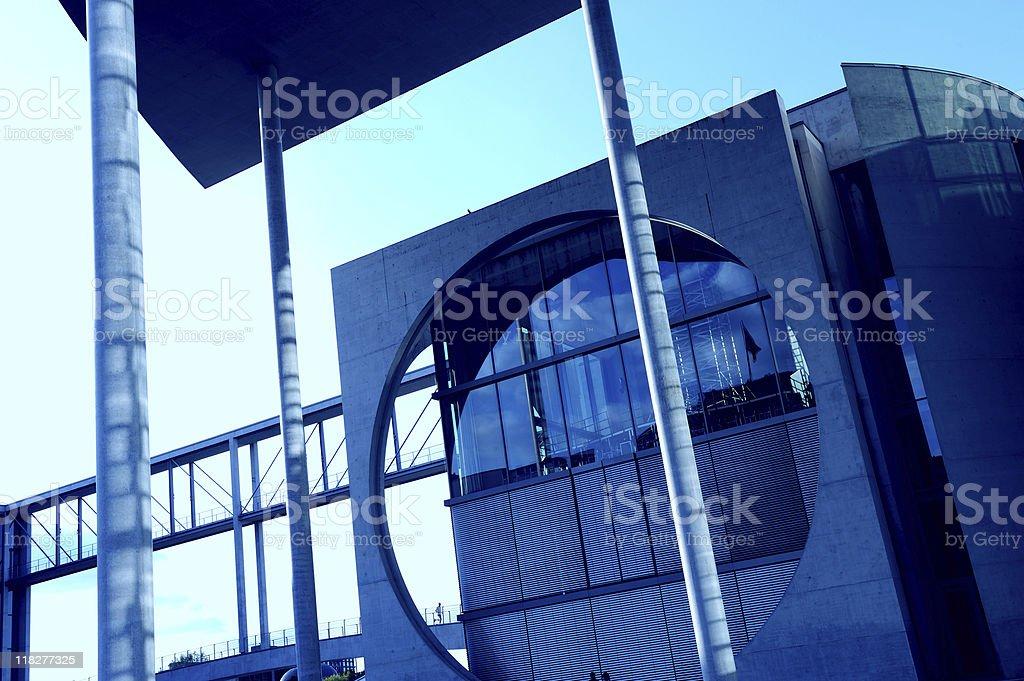 Berlin Parliament Library Bridge Window Bottom View Duotone stock photo