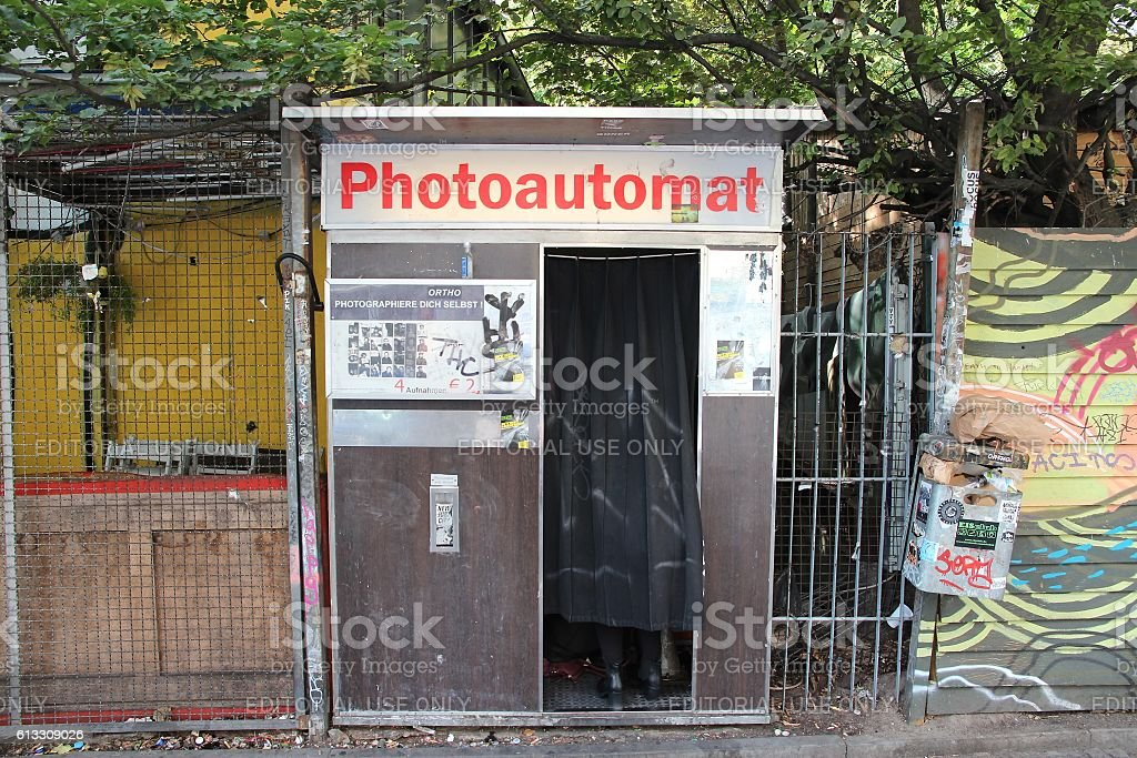 Berlin photo box stock photo